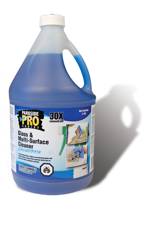 Glass and multi surface cleaner concentrate parkside pro for Sanivac concentrate bathroom cleaner and lime remover